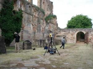 Estudio de Láser-3D realizado por AGUICAMP Arquitectura e  Ingeniería en las inmediaciones del Monasterio de Moreruela