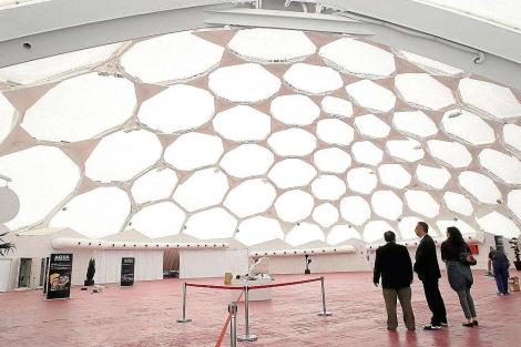 Interior de la Cúpula del Milenio de Valladolid