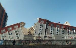 Edificio tras un terremoto